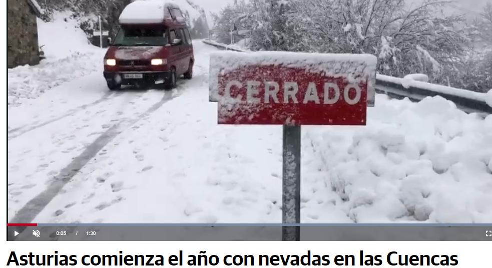 Asturias se tiñe de blanco